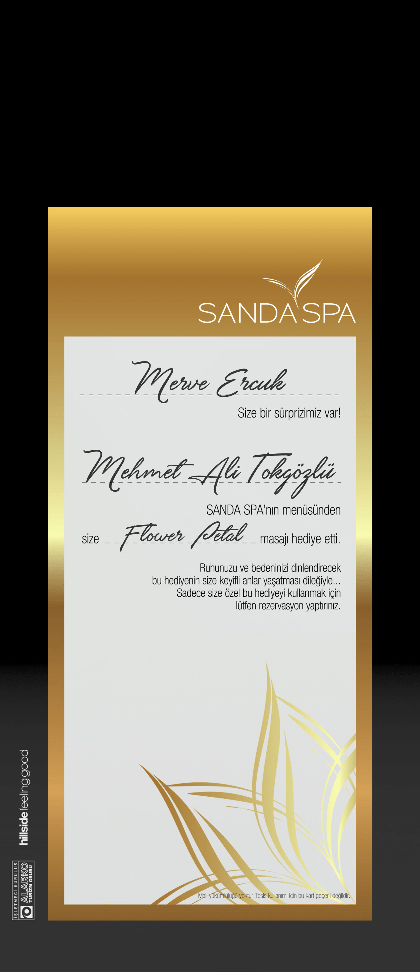 Sanda Spa Gift Card